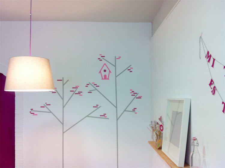 como hacer decoracion infantil con washitape