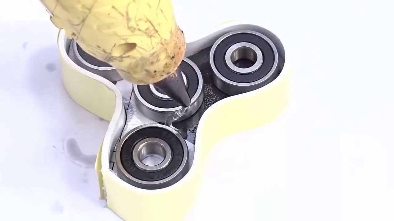 como hacer un spinner con silicona caliente