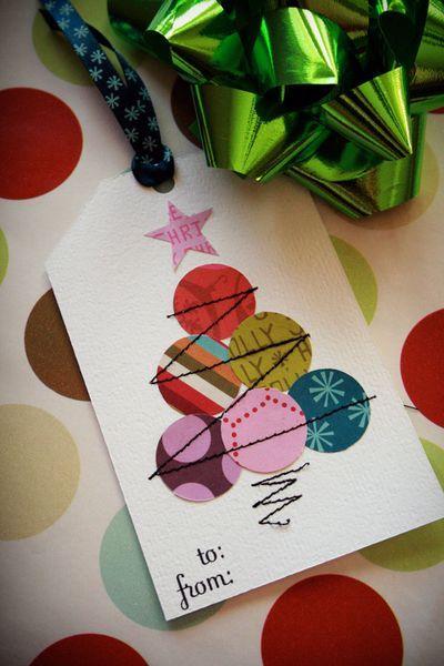como hacer una postal de navidad facil