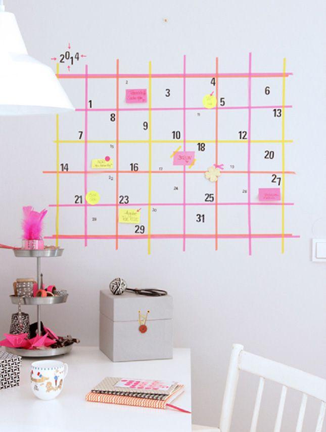 decoracion de paredes infantiles con washitape