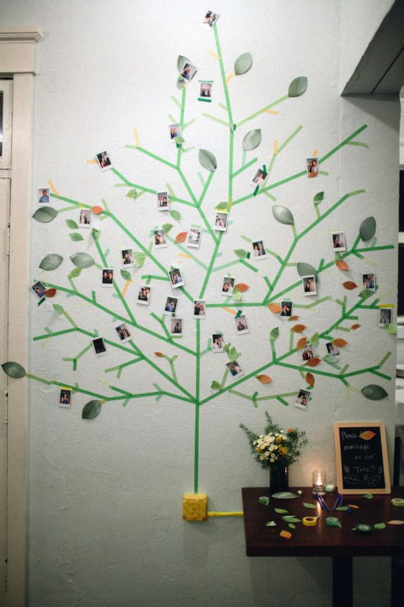 decoracion original de boda de pared