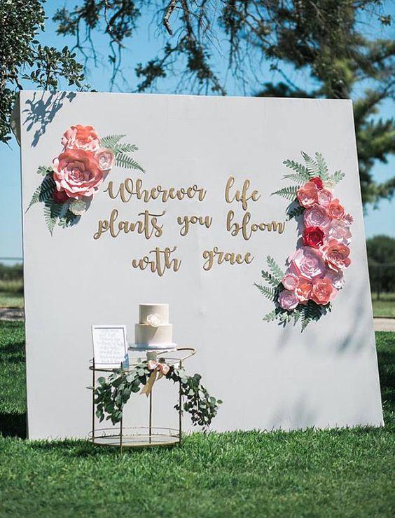 decorar bodas con flores de papel