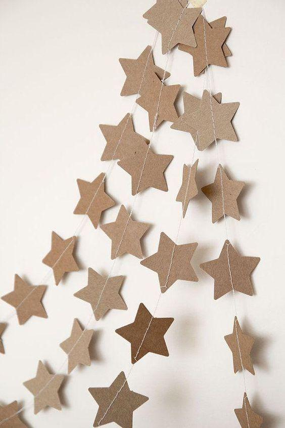 estrellas navideñas infantiles con papel