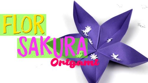Flor sakura de Origami