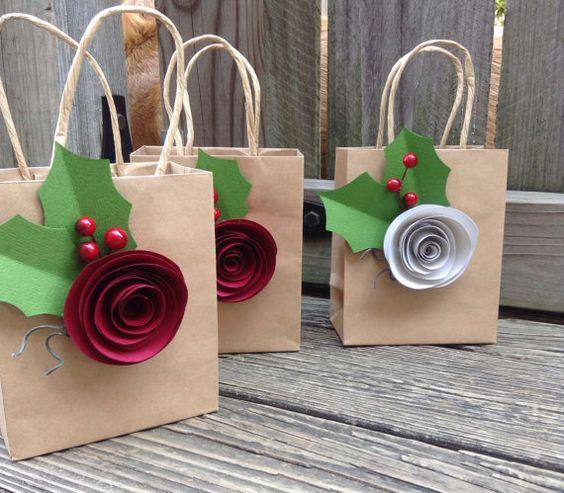 flores de papel de navidad