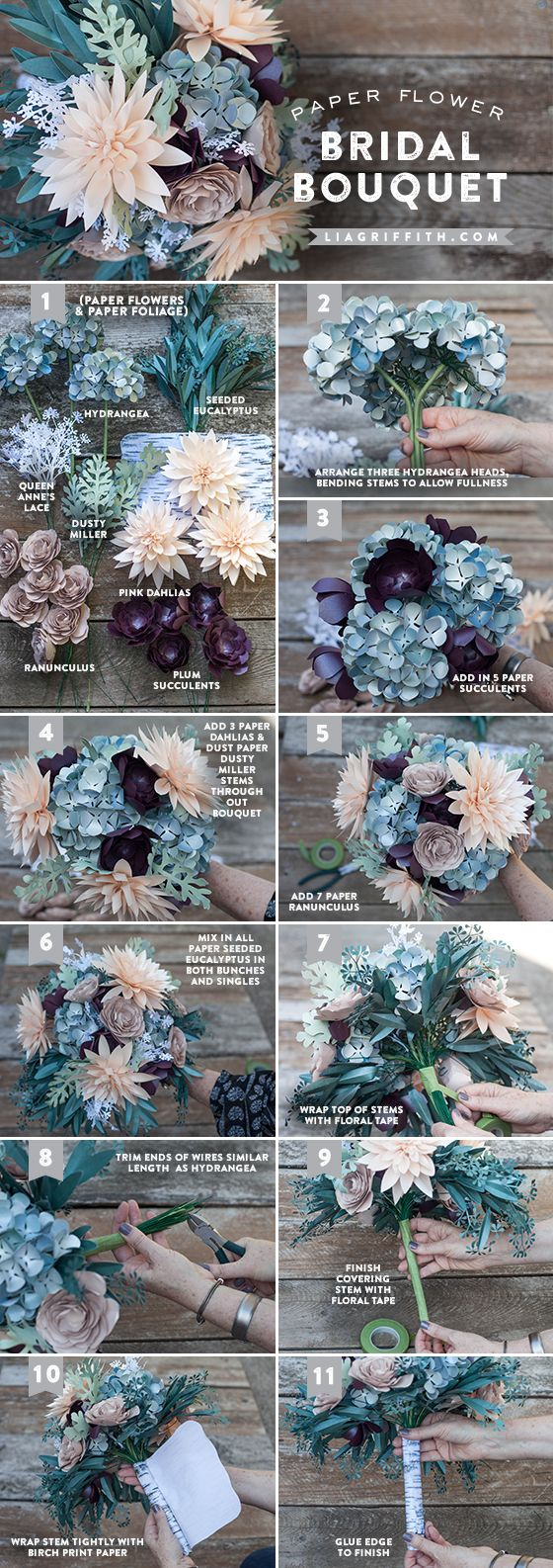 flores de papel para bodas paso a paso