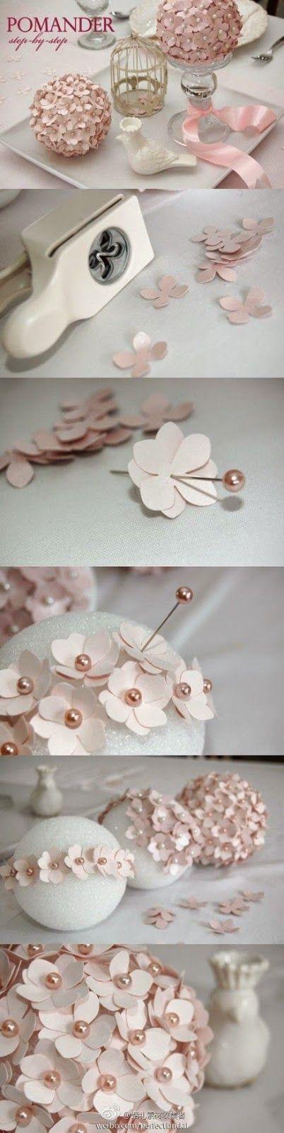 flores de papel para decoracion de bodas
