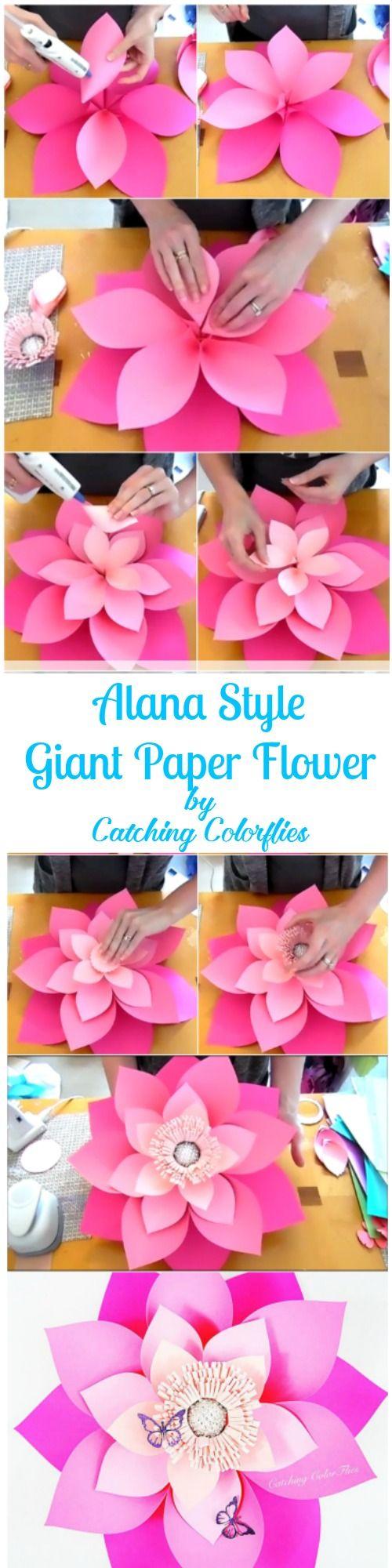 flores de papel xxl