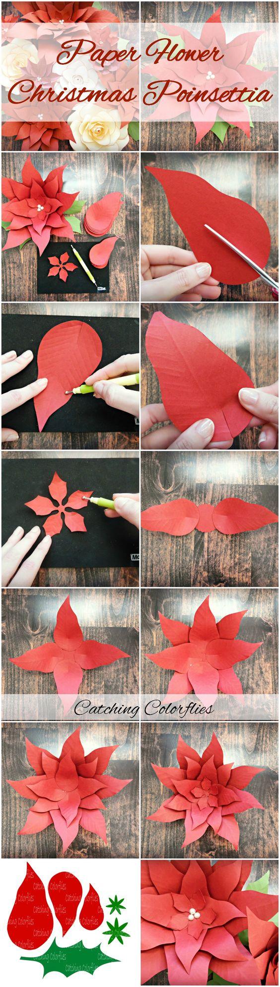 flores de pascua de papel