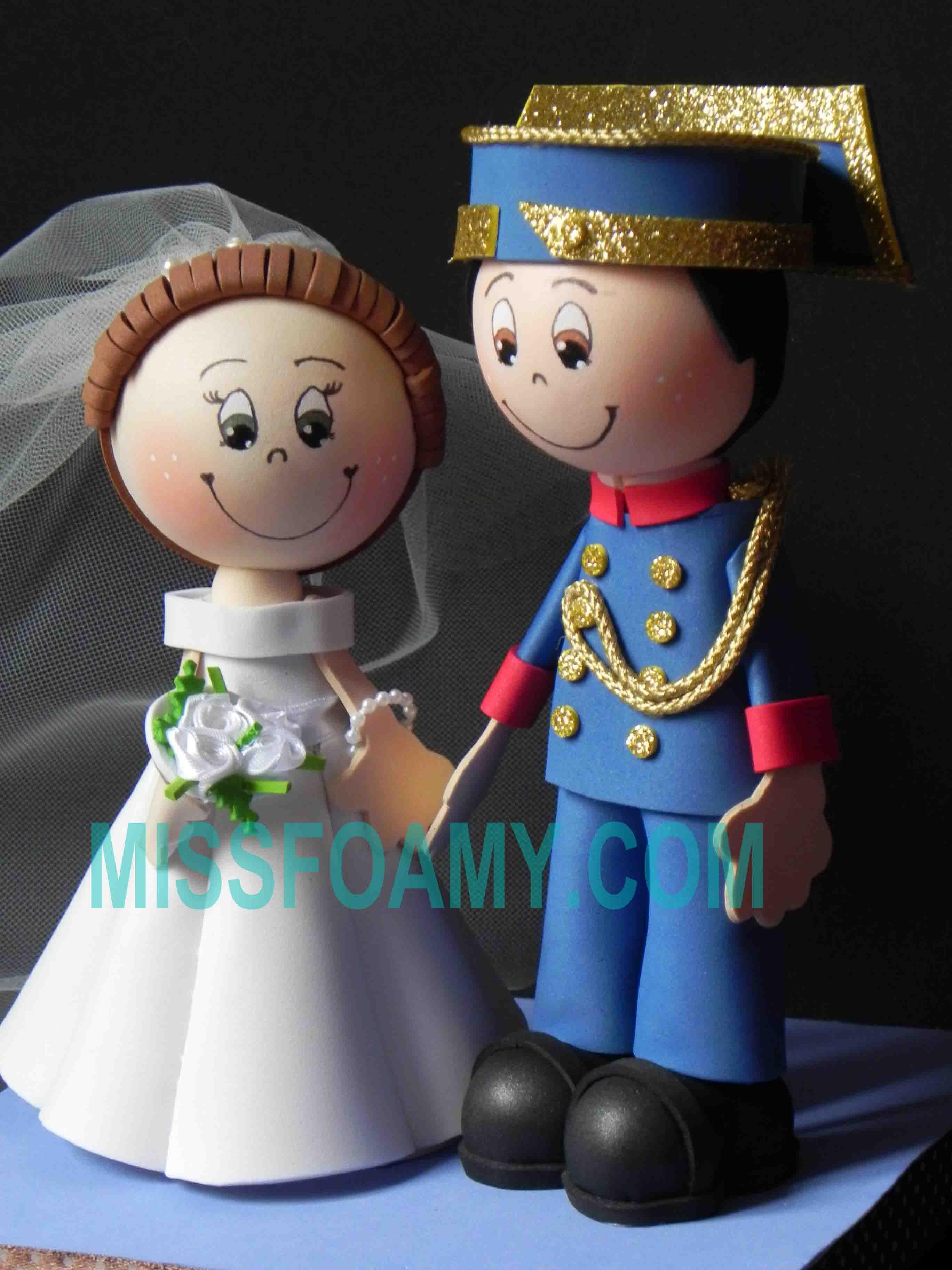 fofucha de boda de policia