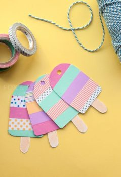 guirnaldas de verano con washi tape infantiles