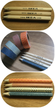 lapices decorados con washi tape