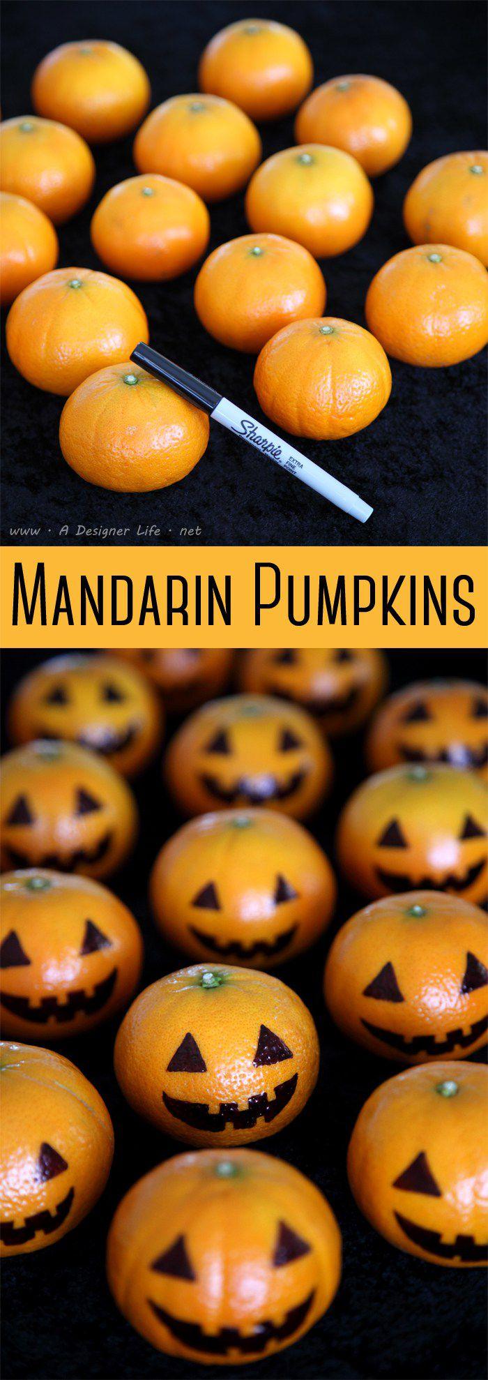 mandarinas para hacer manualidades de calabazas