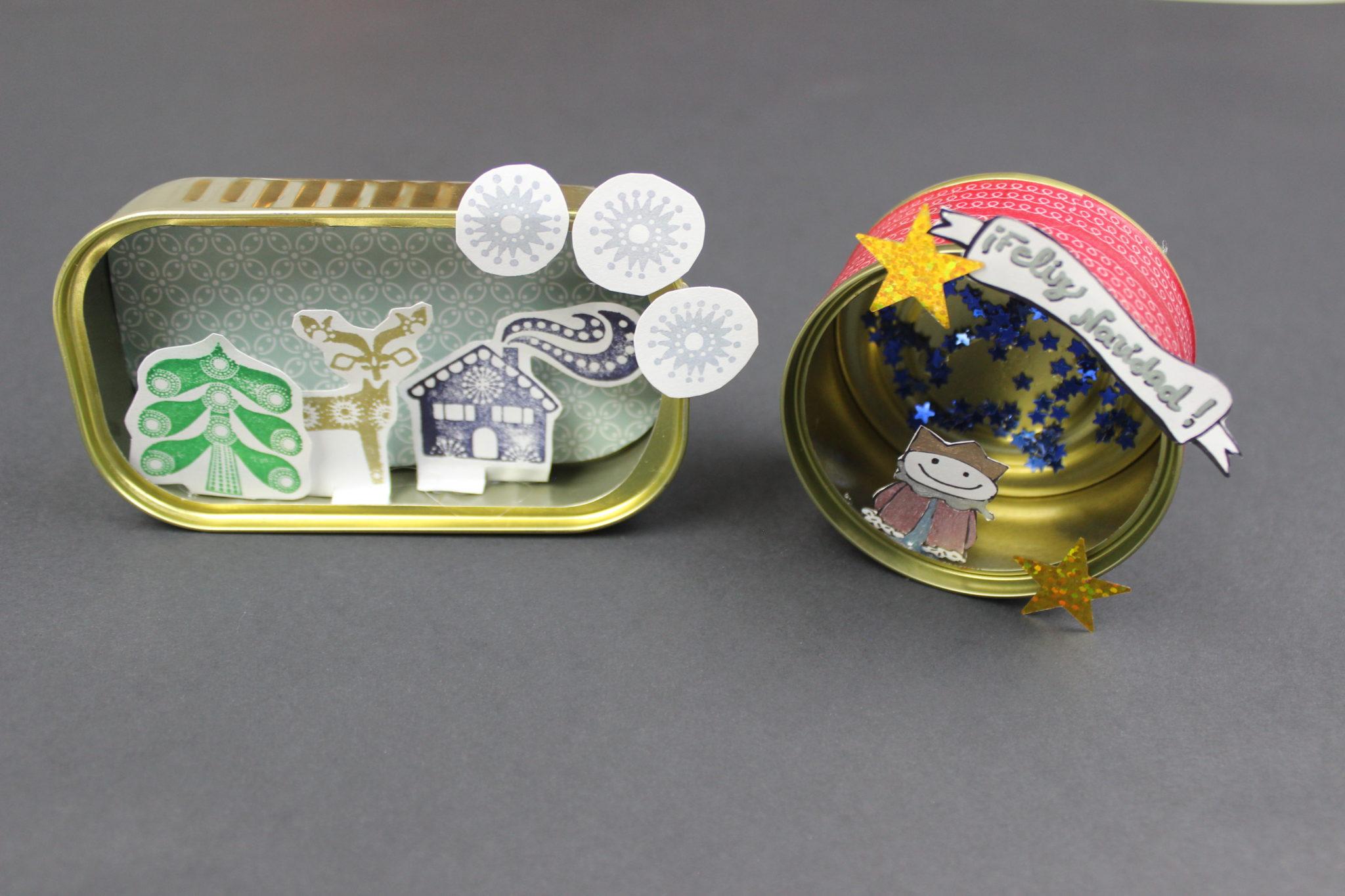 manualidades con latas de aluminio navideñas