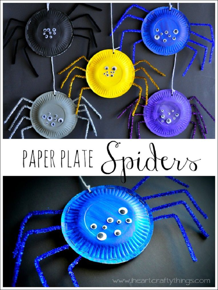 manualidades de arañas de halloween faciles