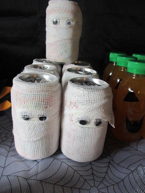 manualitats de halloween amb llaunes