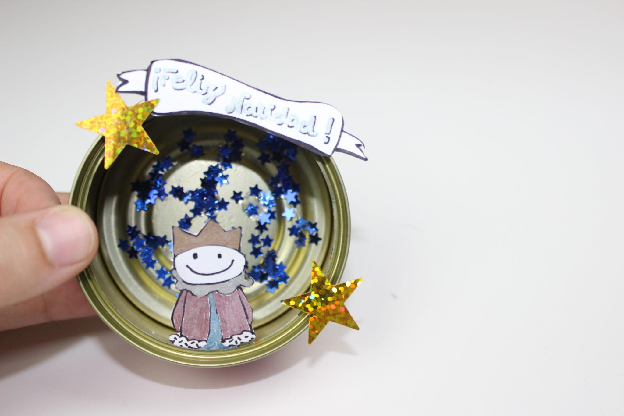 manualidades de navidad con latas de atun
