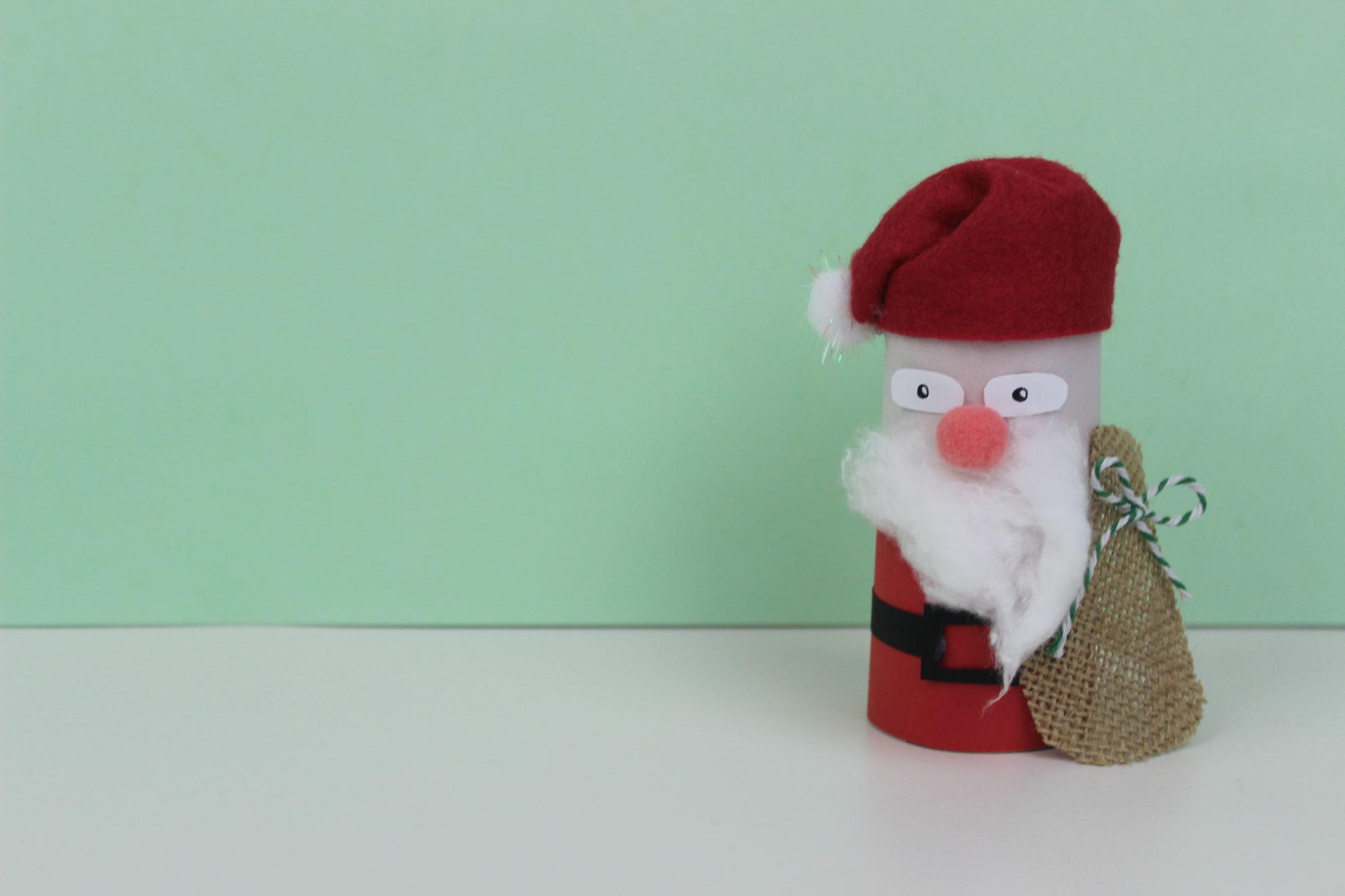 manualidades de santa claus navideño
