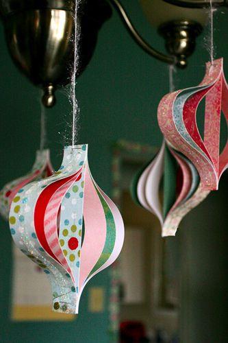 manualidades infantiles de navidad para el arbol con papel