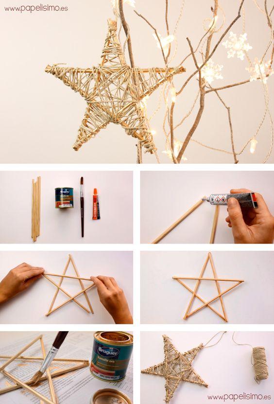 manualidades para el arbol de navidad de estrellas
