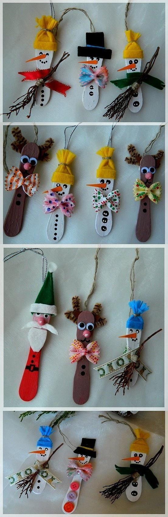 manualidades para el arbol navideño con palitos de helado
