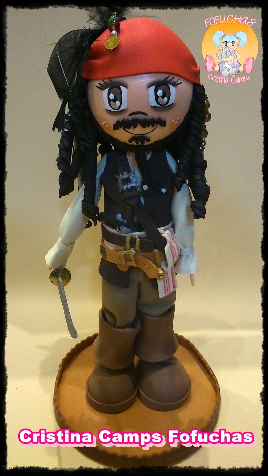 muñeca fofucha de Jack Sparrow