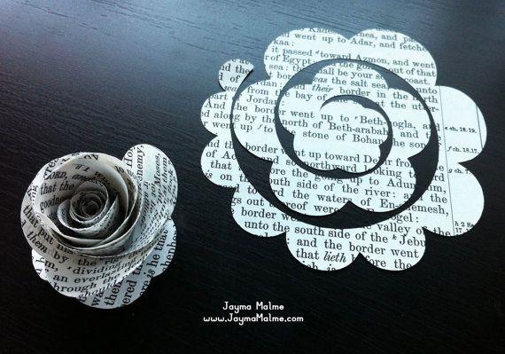 rosas de papel vintage