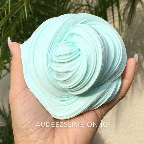 slime azul fluffly