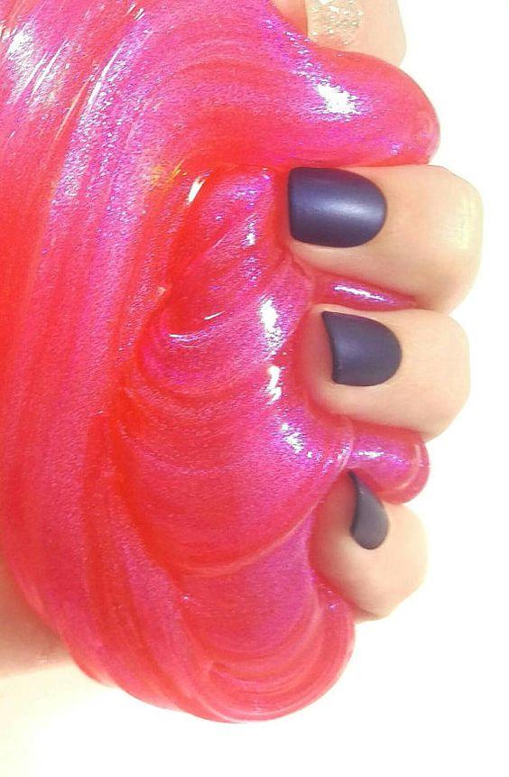 slime rosa brillante