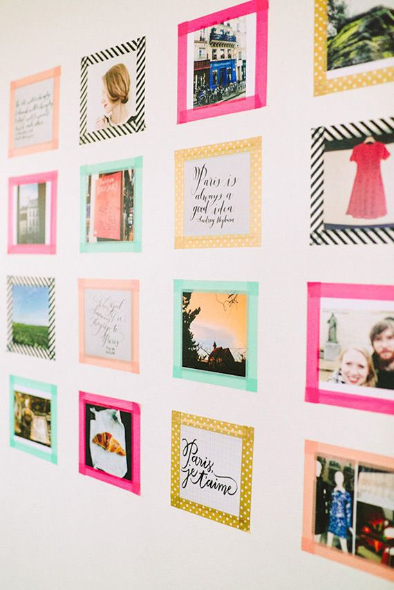 washi tape para pared de bebe
