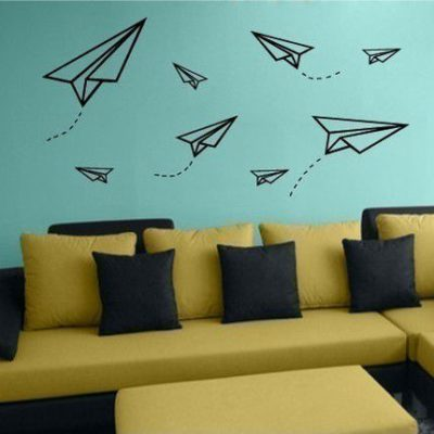 Ideas con washi tape para decorar una pared