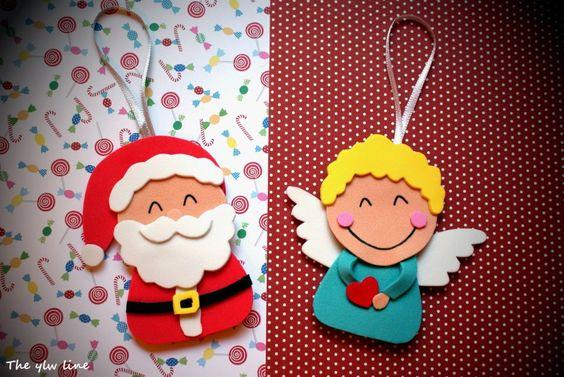 adornos de navidad con goma eva