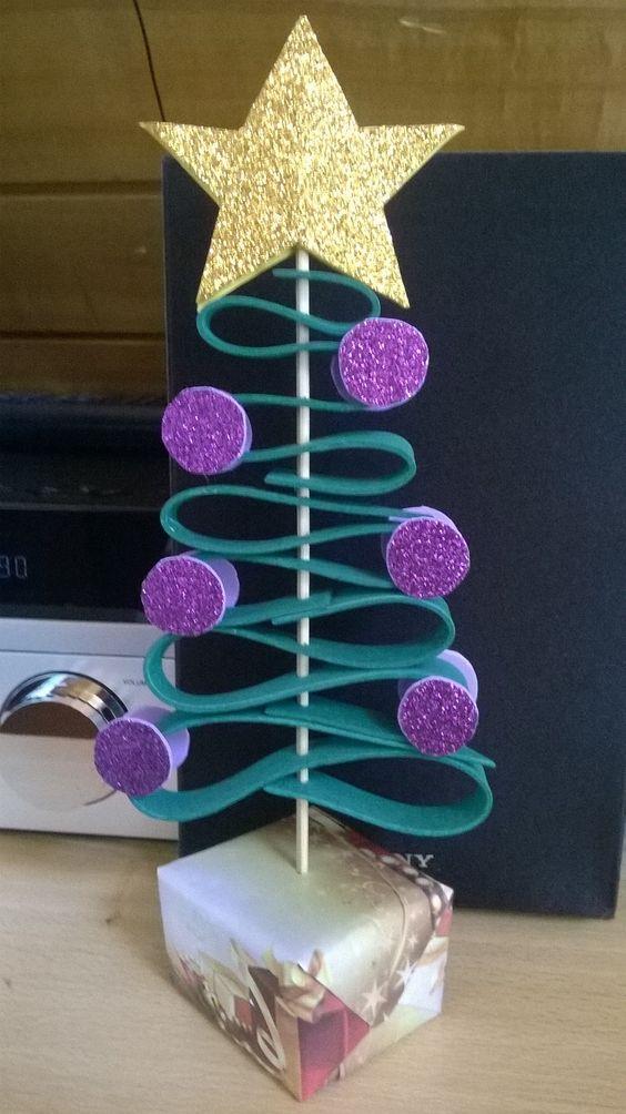 arbol facil de navidad con goma eva