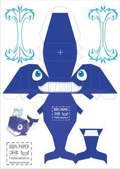 ballena de kirigami