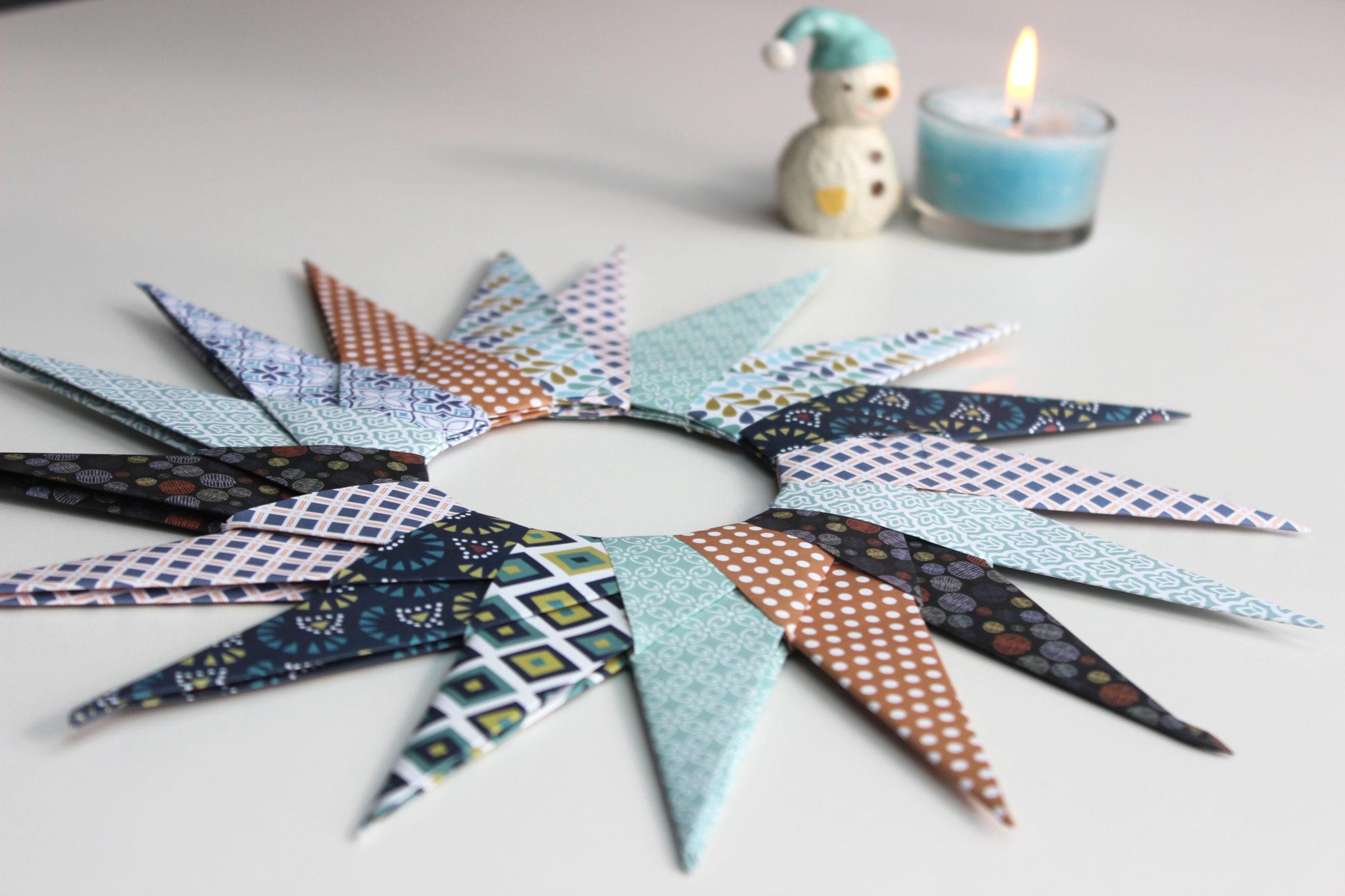 como hacer origami de estrellas navideñas