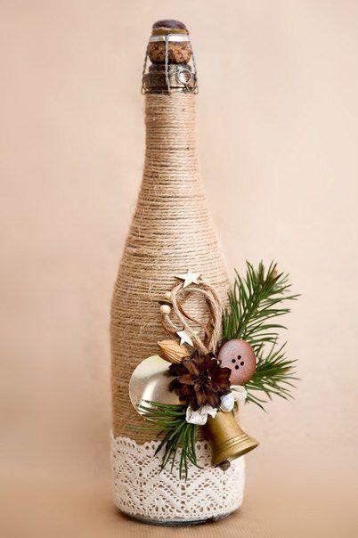 como hacer una decoracion navideña reciclada con botellas