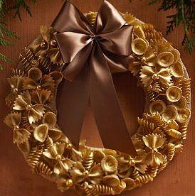 corona de navidad con pasta