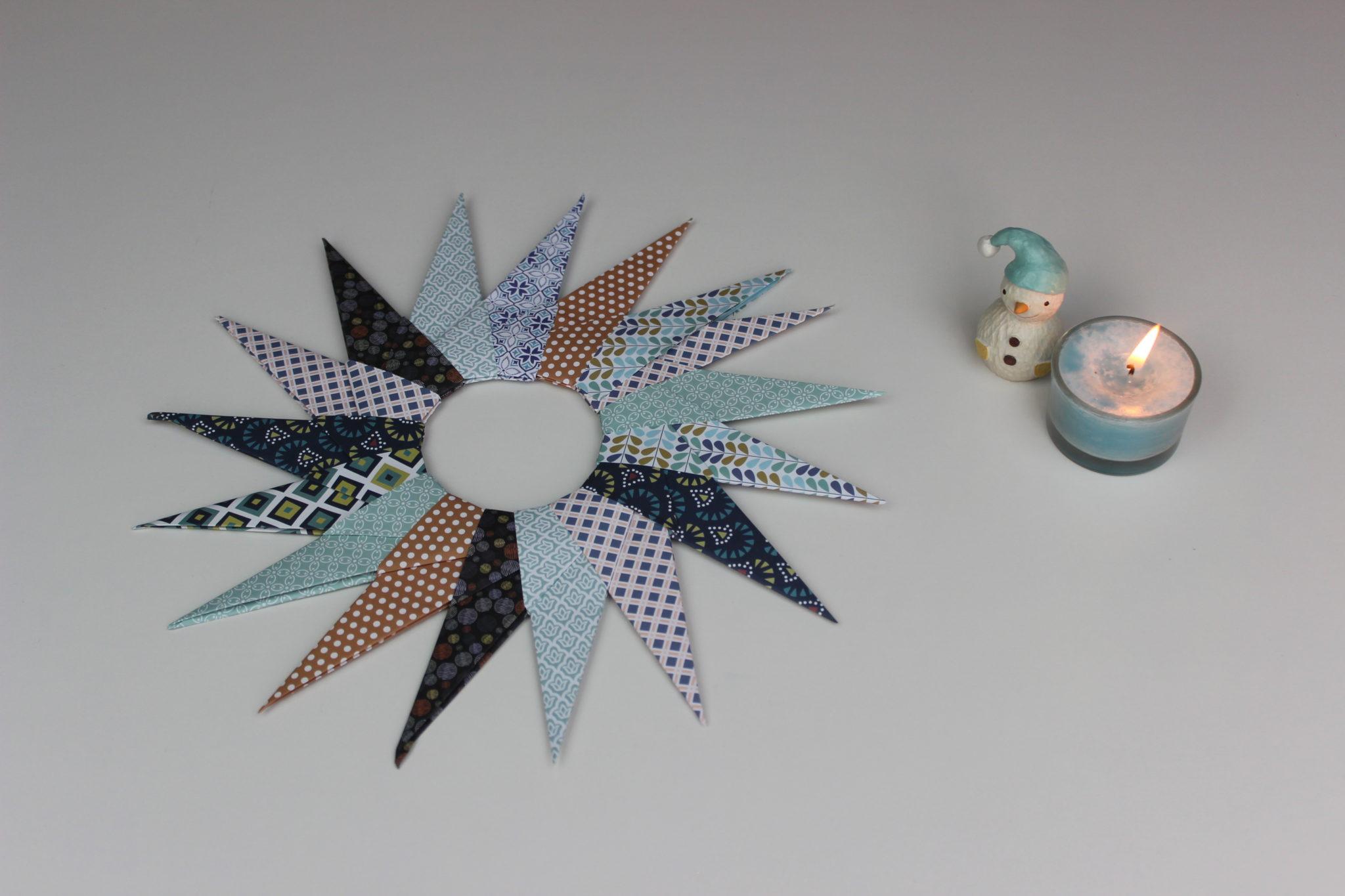 estrella de origami navideña