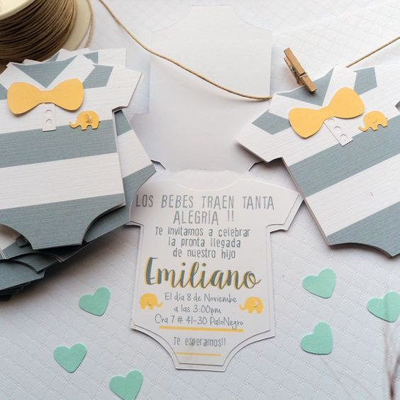 invitaciones para baby shower de scrapbooking
