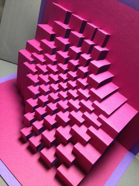kirigami popup geometrico