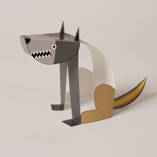 lobo de kirigami
