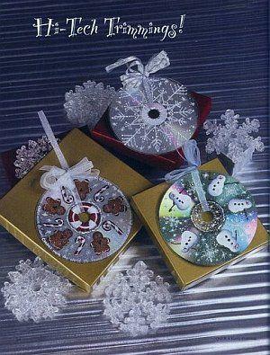 manualidades de navidad recicladas con cd