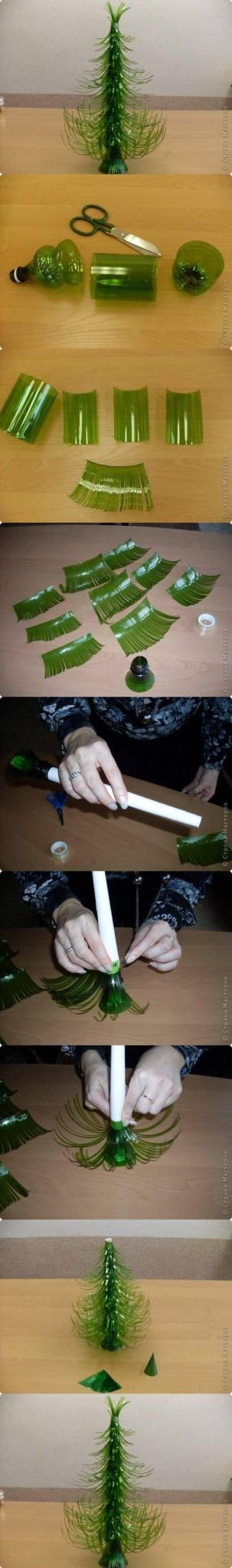 manualidades navideñas con botellas de plastico
