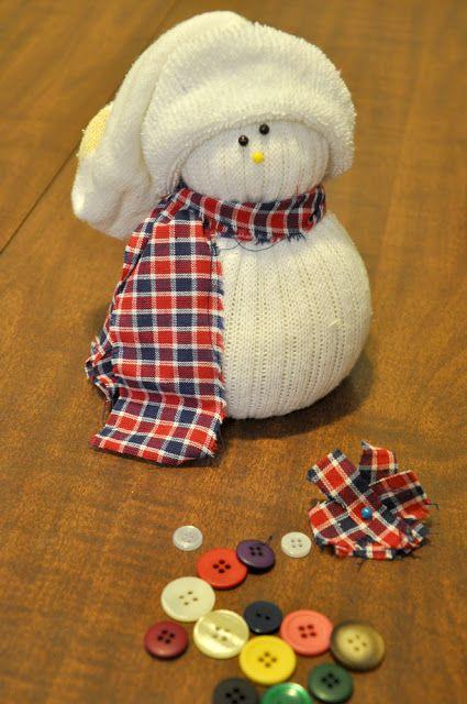 muñecos con calcetines de navidad