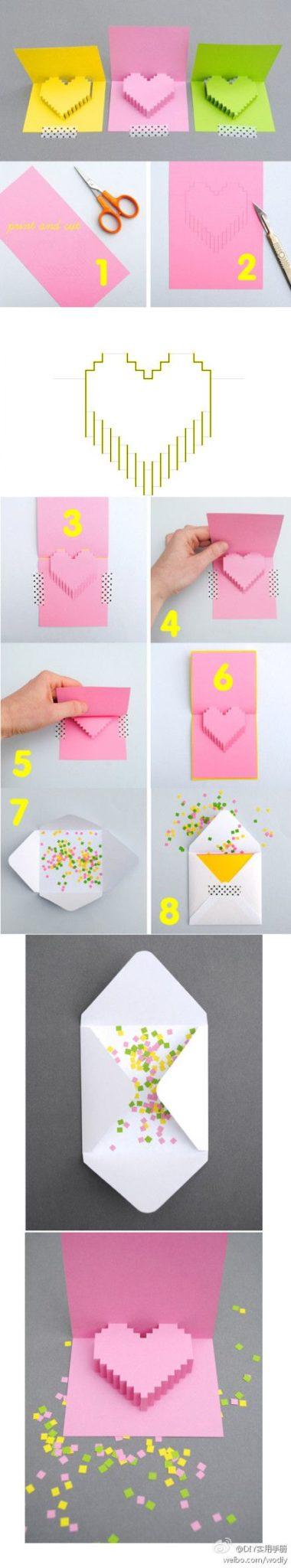 tarjetas popup de kirigami para cumpleaños