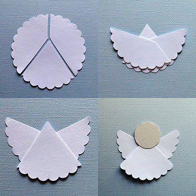Angelitos de navidad faciles