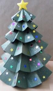 arboles de navidad en cartulina