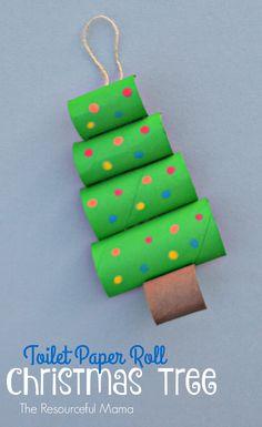 Arbolitos de navidad con cartulinas recicladas