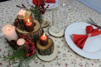 centro de mesa natural de navidad