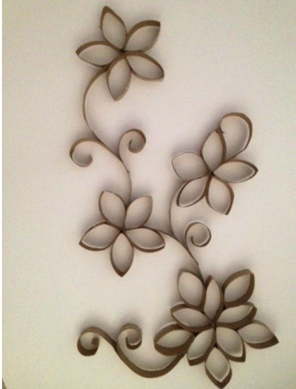 Cómo hacer #flores de #carton #reciclado con papel higienico
